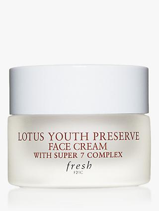 Fresh Lotus Youth Preserve Face Cream with Super 7 Complex, 15ml