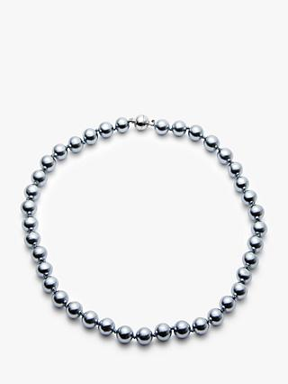John Lewis & Partners Magnetic Mother of Pearl Necklace, Dark Blue