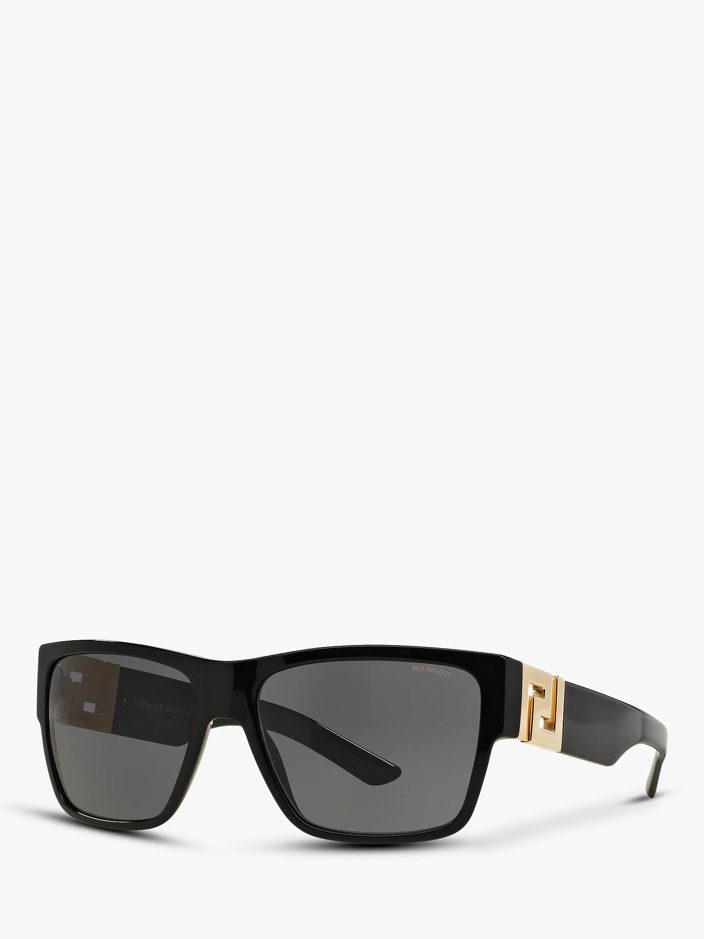 33de5854a1a8 Buy Versace VE4296 Men's Polarised Square Sunglasses, Black/Grey Online at  johnlewis. ...