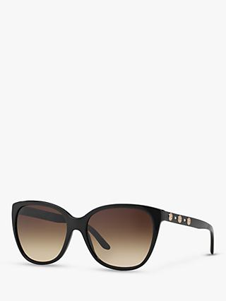 Versace VE4281 Women's Square Sunglasses, Black/Brown Gradient