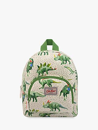 Cath Kids Children's Jurassic Friends Mini Rucksack, Grey/Green