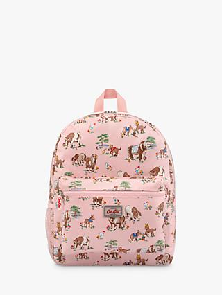 Cath Kids Children's Shetland Ponies Print Large Padded Rucksack, Pink
