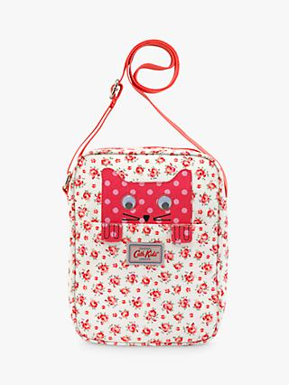 Cath Kids Children's Hampton Rose Cat Print Cross Body Handbag, Pink