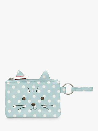 Cath Kids Children's Little Spot Print Novelty Cat Purse, Blue