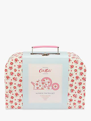 Cath Kids Children's Hampton Rose Tin Tea Set, Pink