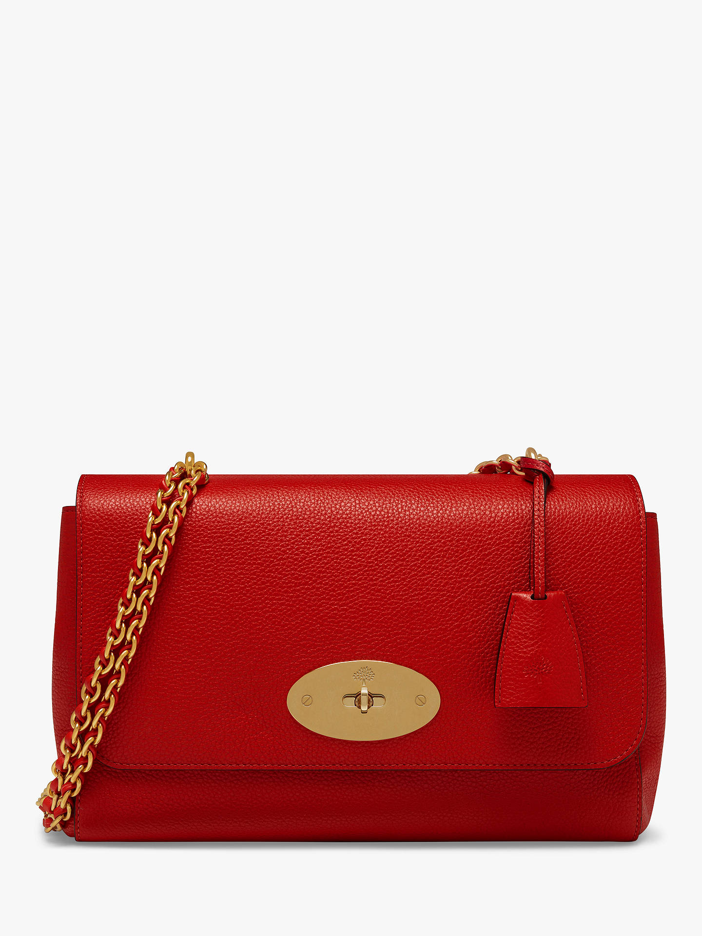 16a33c59caa1 Mulberry Medium Lily Classic Grain Leather Shoulder Bag, Ruby Red