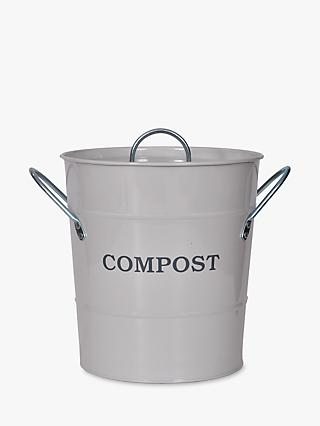 Garden Trading Lidded Compost Food Waste Caddy, Chalk