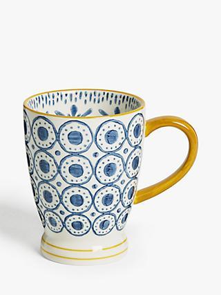 Studio/ Handcrafted Pottery Independent Very Pretty Glazed Blue Gloss Cup Pottery Ceramic Handmade Signed Available In Various Designs And Specifications For Your Selection