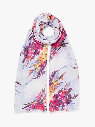 f297ac8377 Modern Rarity Gladioli Flower Bunch Wool and Silk Scarf