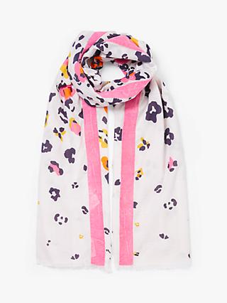 Collection WEEKEND by John Lewis Animal Print Cotton Scarf, Multi