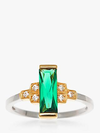 V by Laura Vann Audrey Cubic Zirconia Geometric Ring, Multi