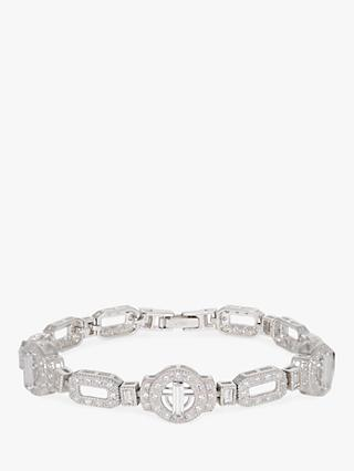 V by Laura Vann Ira Sterling Silver Cubic Zirconia Bracelet, Silver