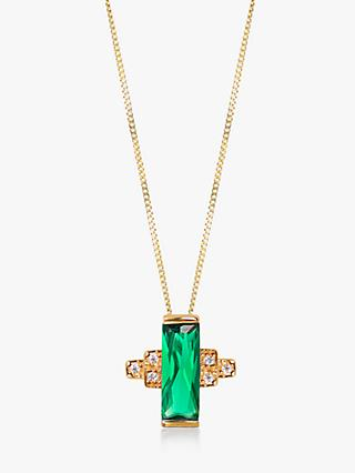 V by Laura Vann Audrey Cubic Zirconia Geometric Pendant Necklace, Multi