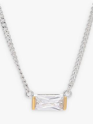 V by Laura Vann Agata Cubic Zirconia Short Chain Necklace, Silver/Gold