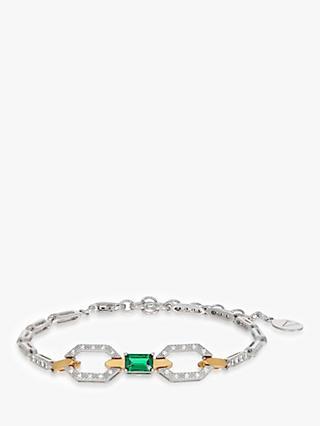 V by Laura Vann Thalia Geometric Chain Bracelet, Silver/Gold