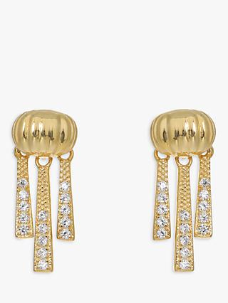 V by Laura Vann Priscilla Cubic Zirconia Drop Earrings, Gold