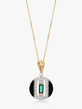 V by Laura Vann Daphne Circle Pendant Necklace, Multi