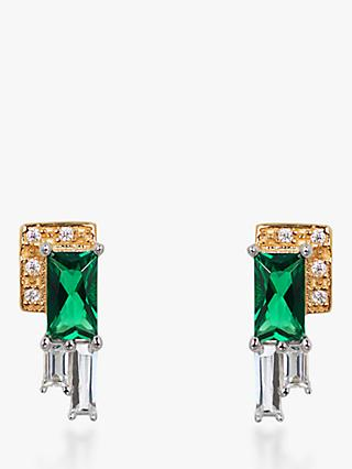 V by Laura Vann Audrey Cubic Zirconia Geometric Stud Earrings, Multi