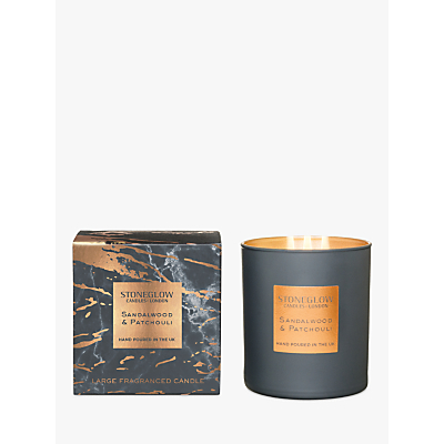 Stoneglow Luna Luxe Sandalwood & Patchouli Scented Candle, 760g