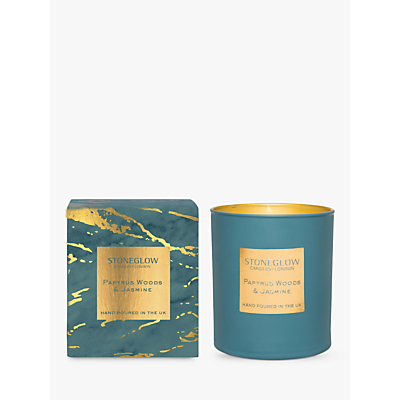 Stoneglow Luna Papyrus Woods & Jasmine Scented Candle, 220g