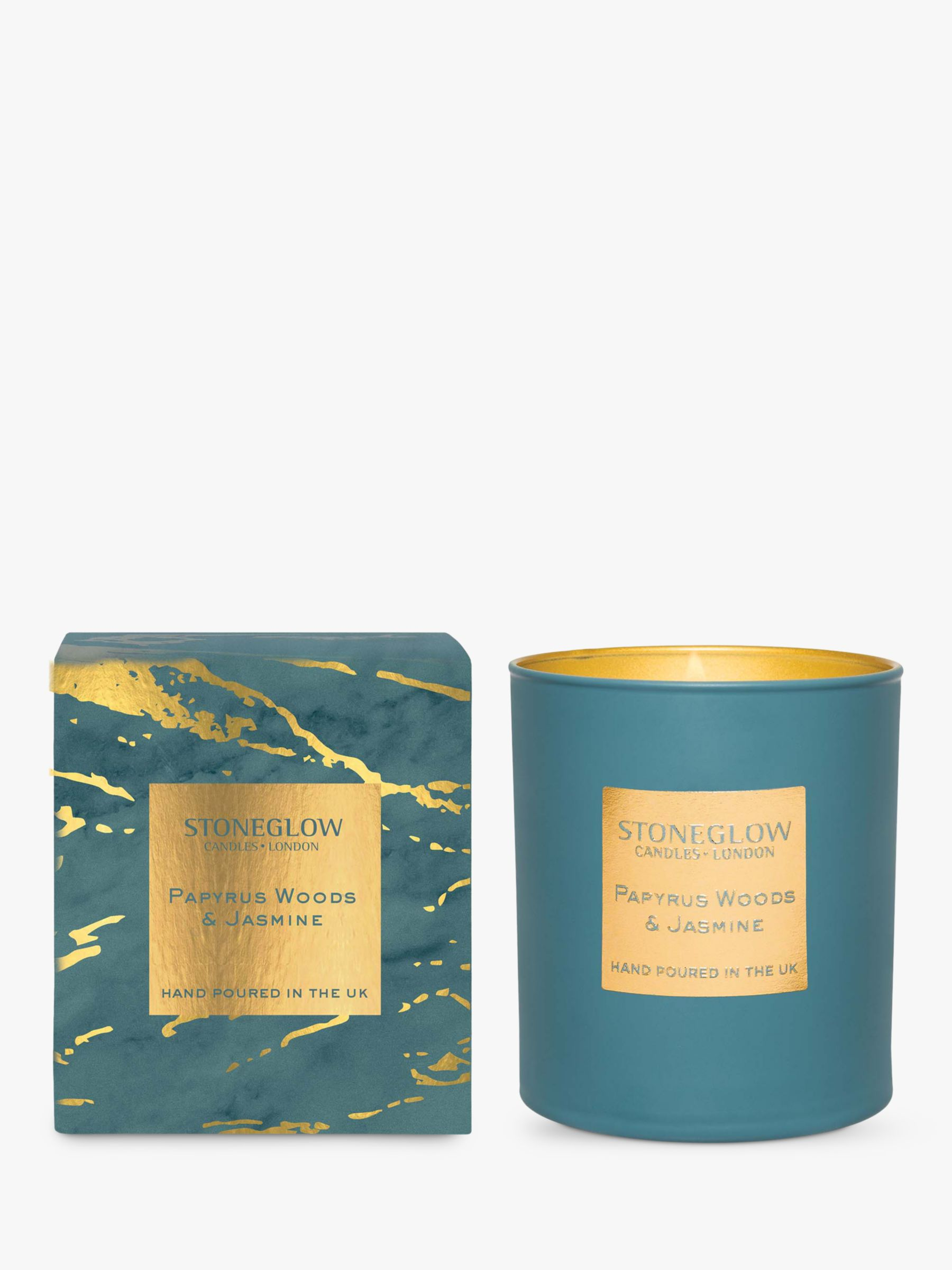 Stoneglow Stoneglow Luna Papyrus Woods & Jasmine Scented Candle, 220g