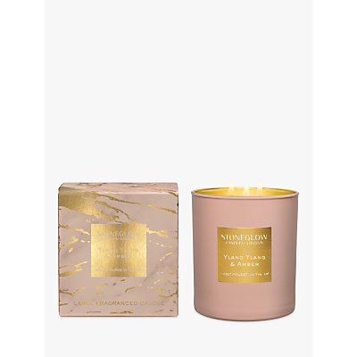 Stoneglow Luna Luxe Ylang Ylang & Amber Scented Candle, 760g