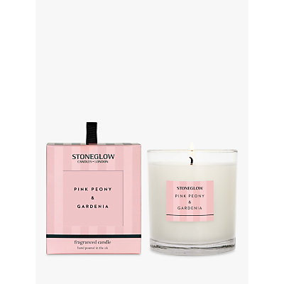 Stoneglow Modern Classic Pink Peony & Gardenia Scented Candle, 220g