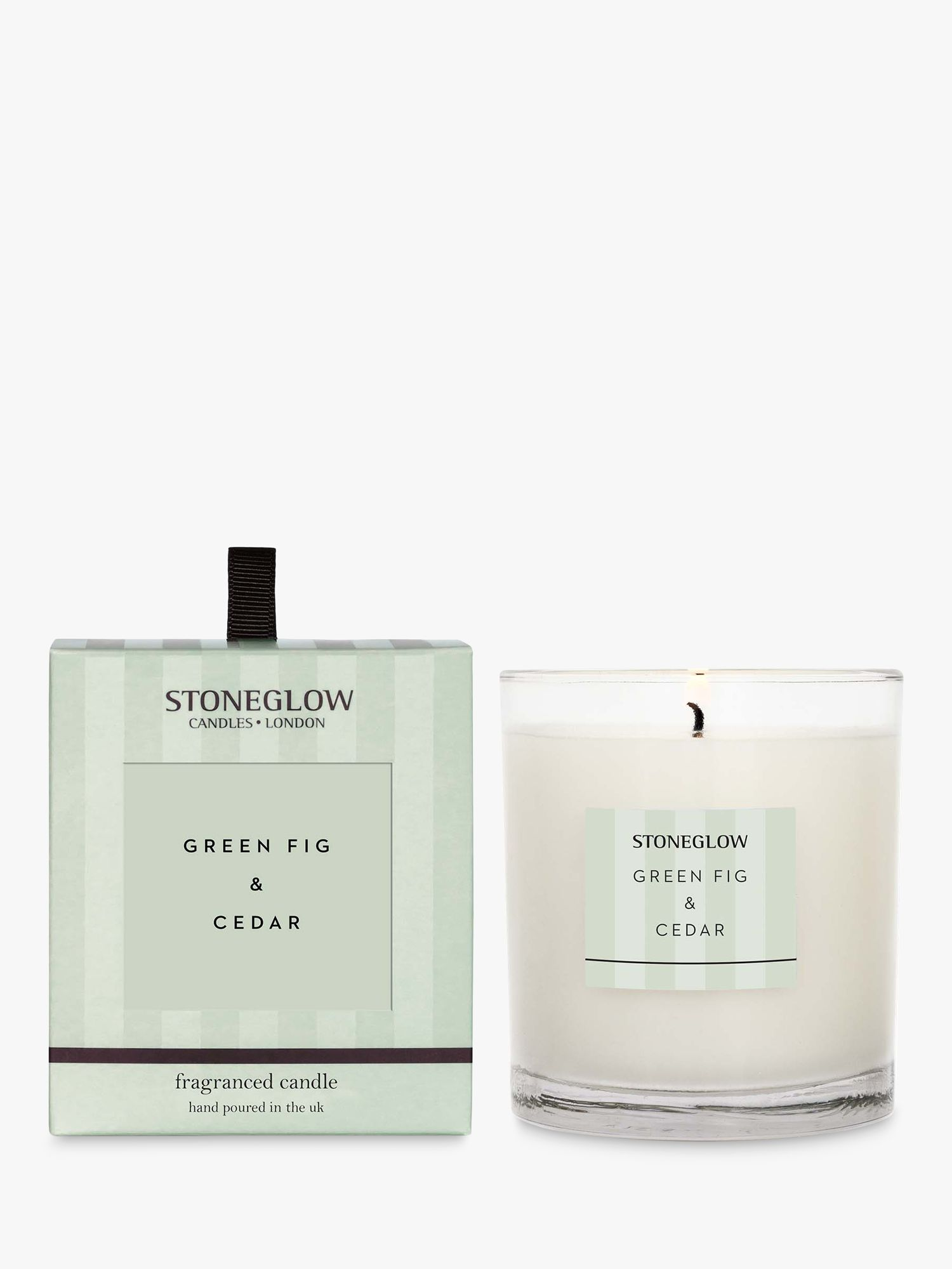 Stoneglow Stoneglow Modern Classic Green Fig & Cedar Scented Candle, 220g