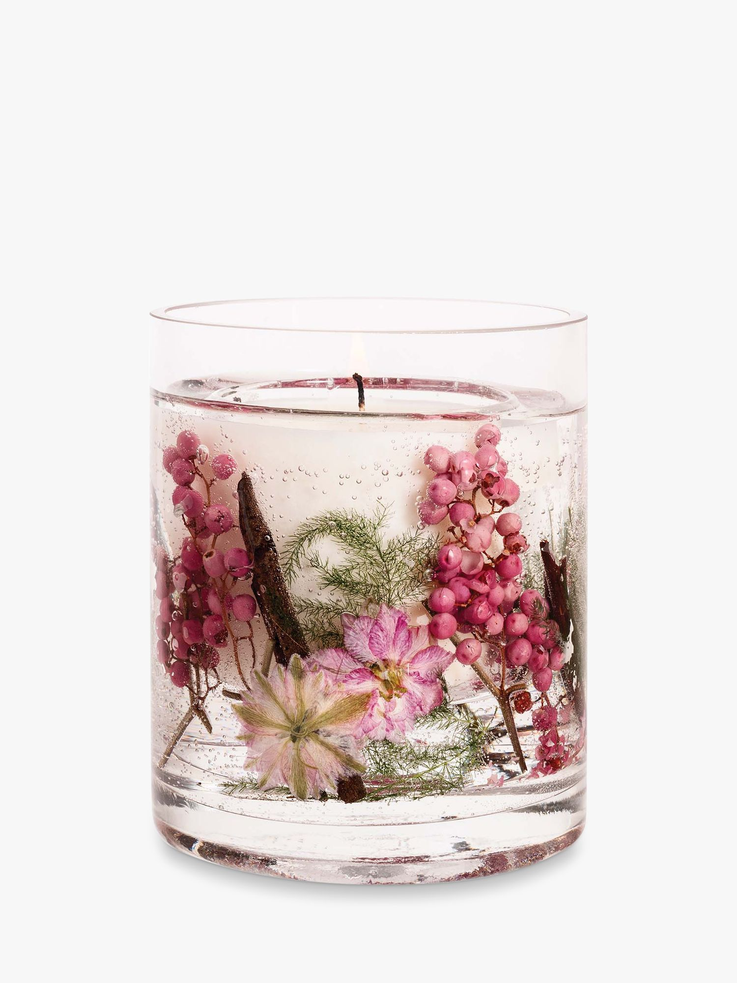 Stoneglow Stoneglow Natures Gift Pink Pepper Flowers Gel Scented Candle, 160g
