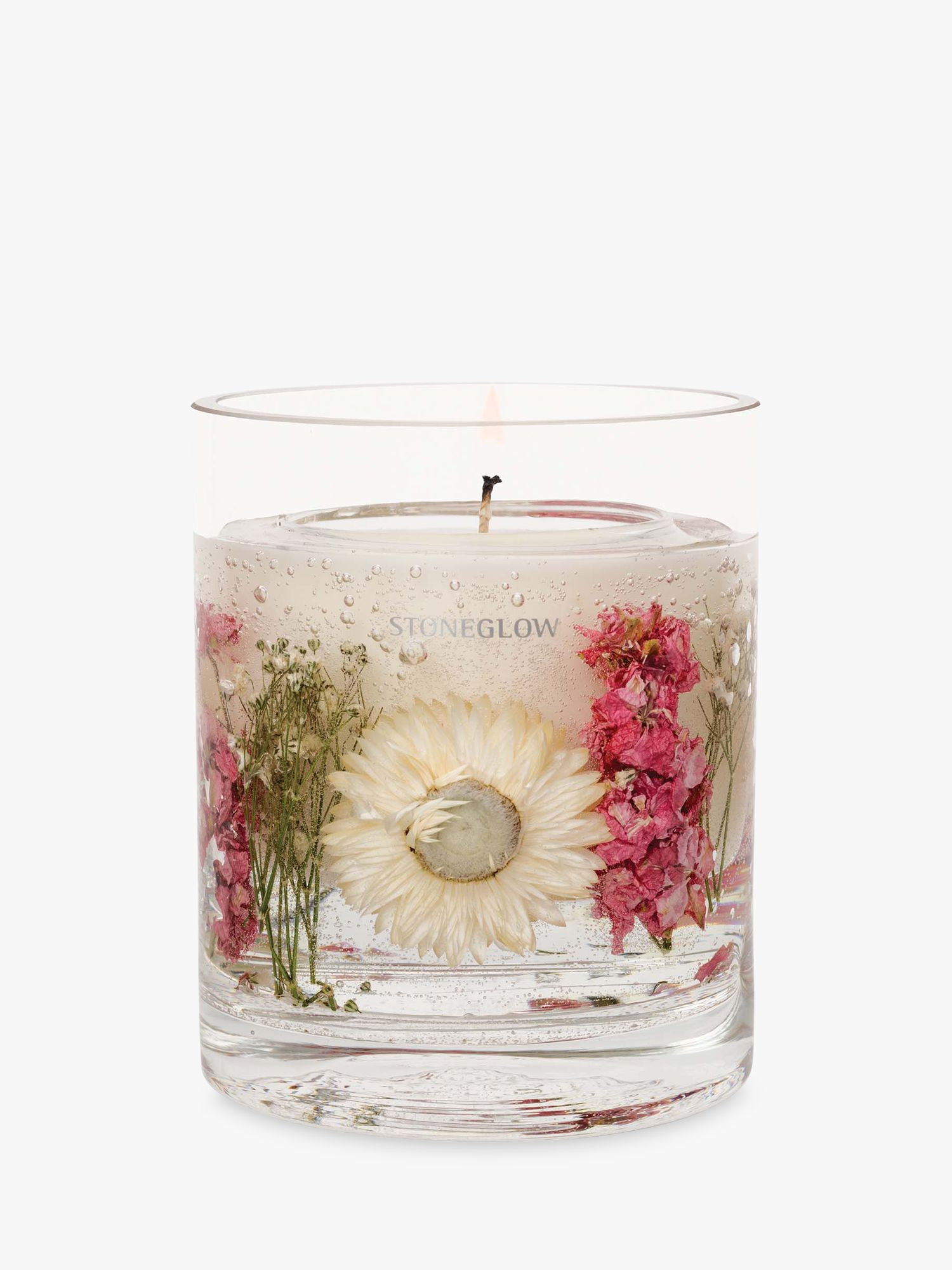 Stoneglow Stoneglow Natures Gift Geranium Rosa Gel Scented Candle, 160g