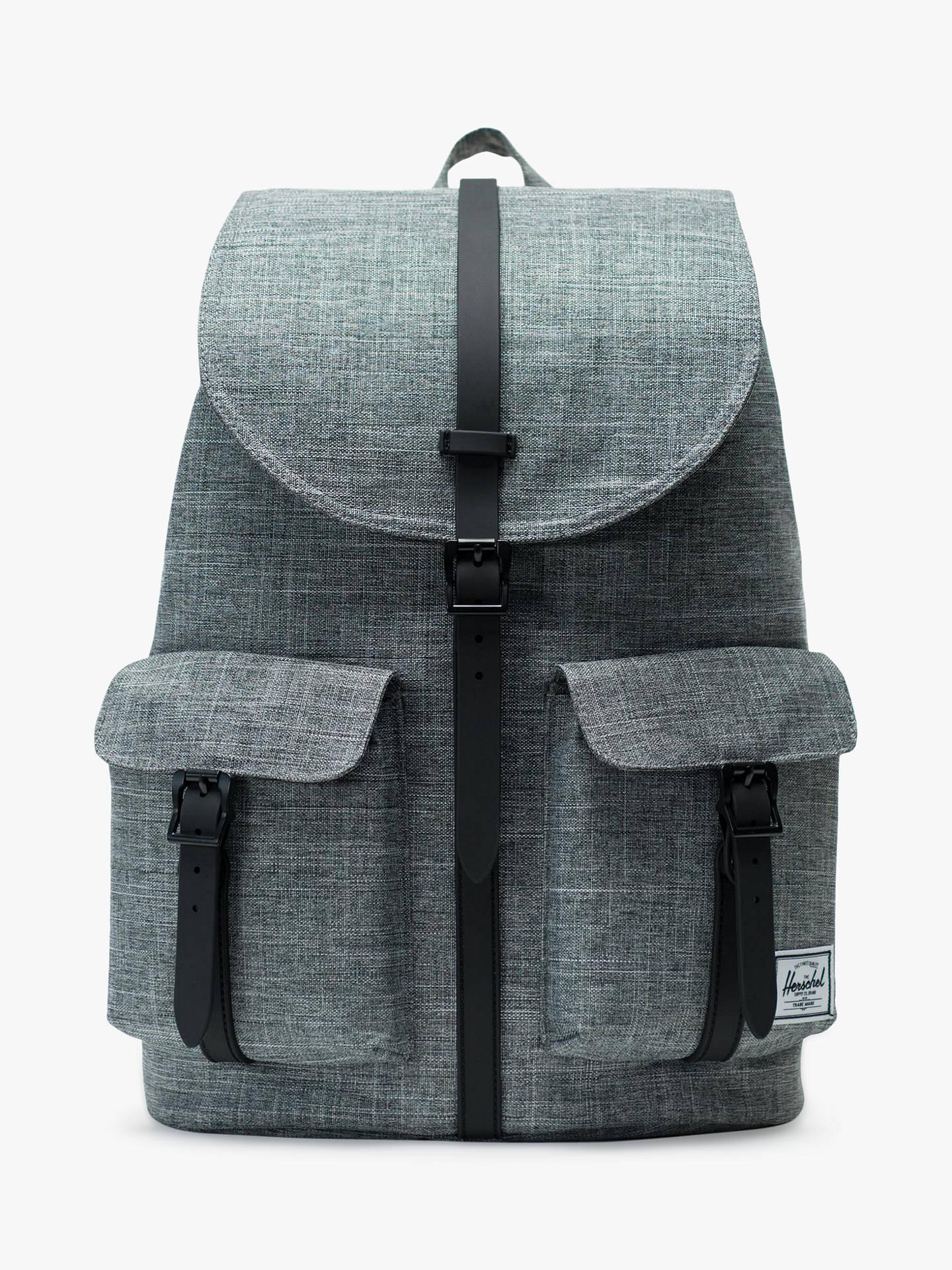c8fdb2d2bb5614 Buy Herschel Supply Co. Dawson Raven Backpack, Crosshatch/Black Online at  johnlewis.