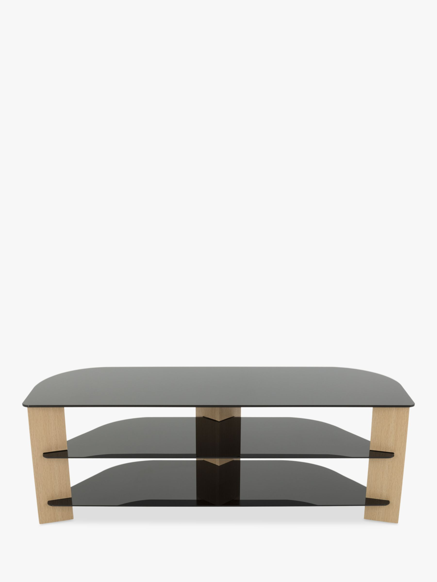 AVF AVF Varano 1300 Corner TV Stand for TVs up to 65, Oak/Black Glass