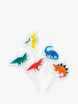 Talking Tables Dinosaur Candles, Pack of 5