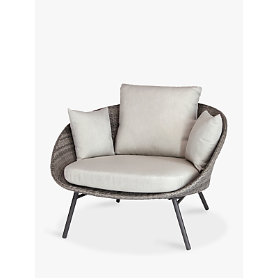 KETTLER LaMode Comfort Lounging Chair with Cushions, Grey