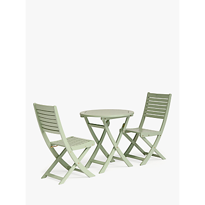 KETTLER RHS Rosemoor Garden Bistro Table & Chairs Set, FSC-Certified (Acacia Wood), Sage
