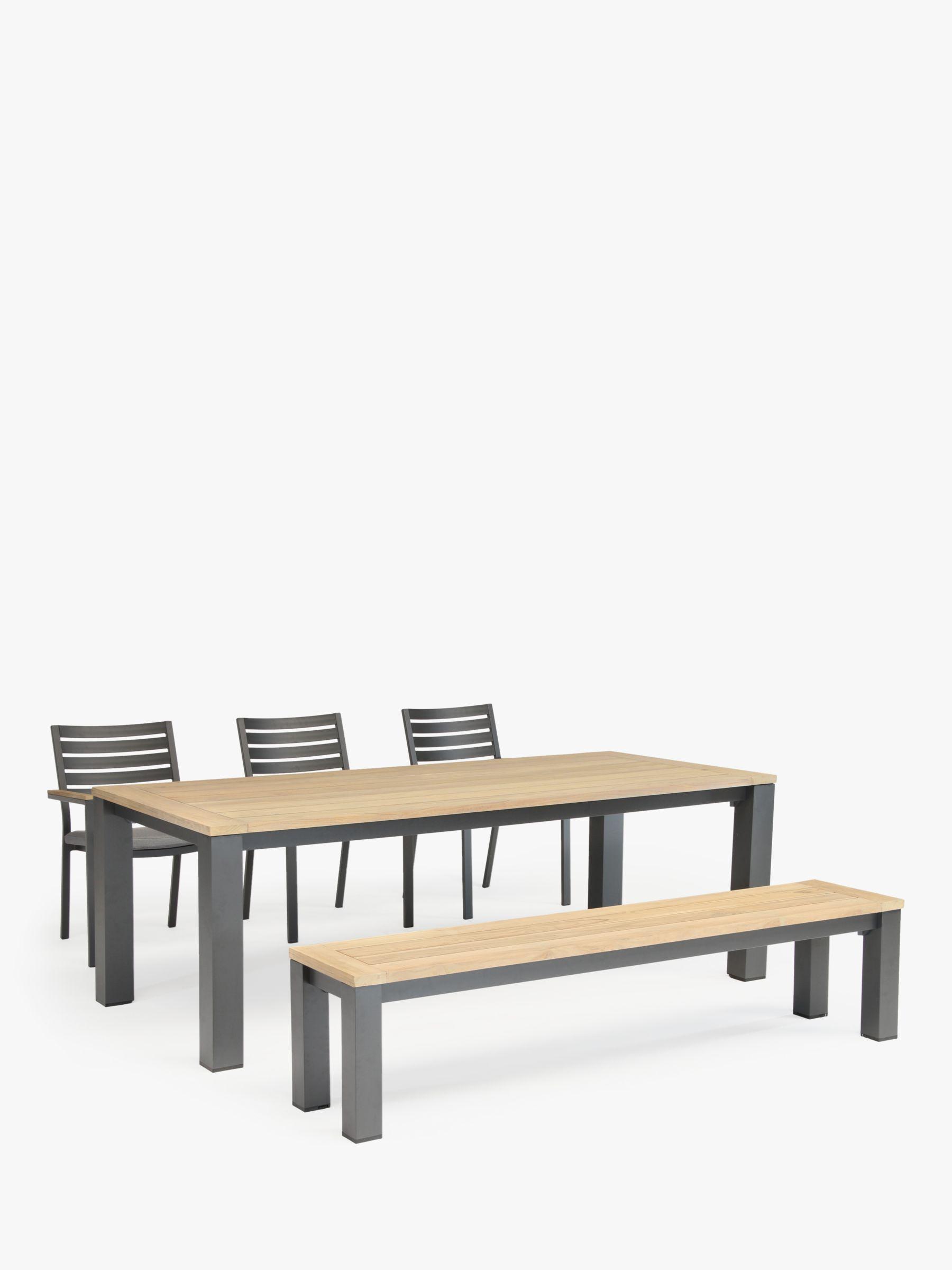 Picture of: Kettler Elba Garden Dining Bench Fsc Certified Teak Wood 200cm At John Lewis Partners