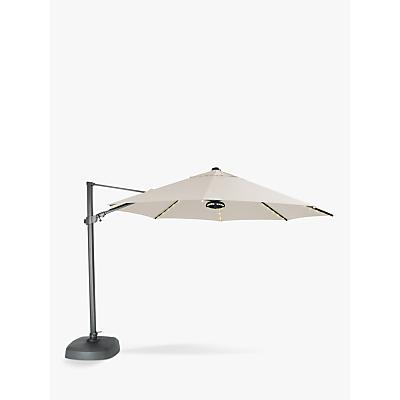 KETTLER 3.5m Freestanding Arm LED Light & Wireless Speaker Parasol