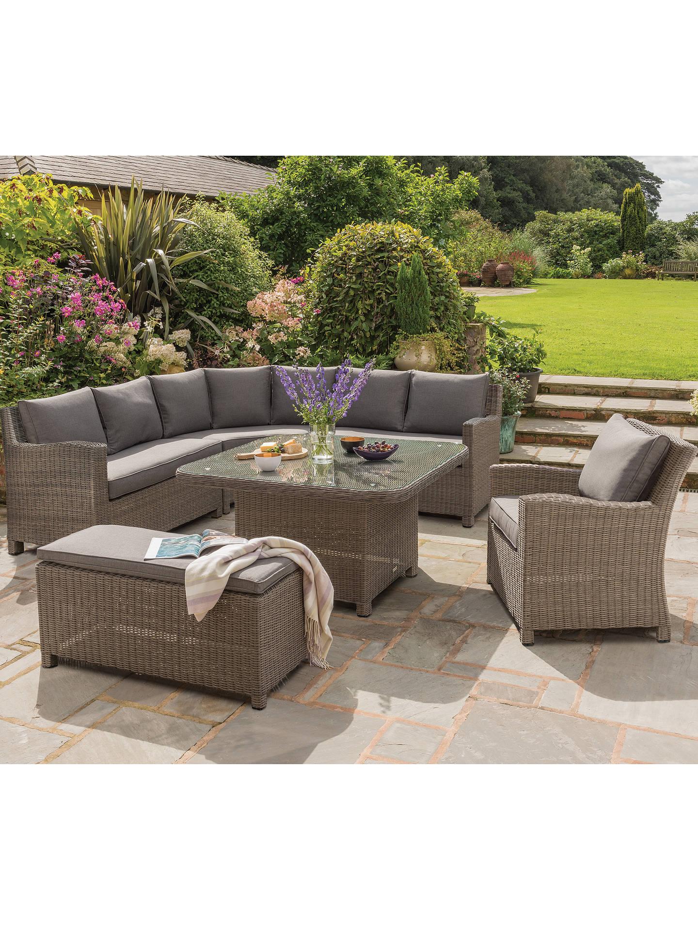 KETTLER Palma Grande 6-Seat Garden Corner Sofa and Table Set, Rattan