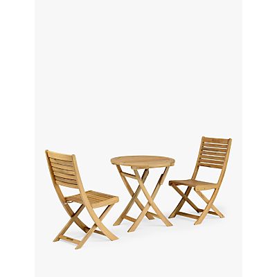 KETTLER RHS Chelsea Garden Bistro Table & Chairs Set, FSC-Certified (Acacia Wood)