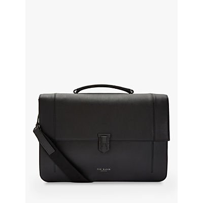 Image of Ted Baker Aggro Leather Briefcase, Black