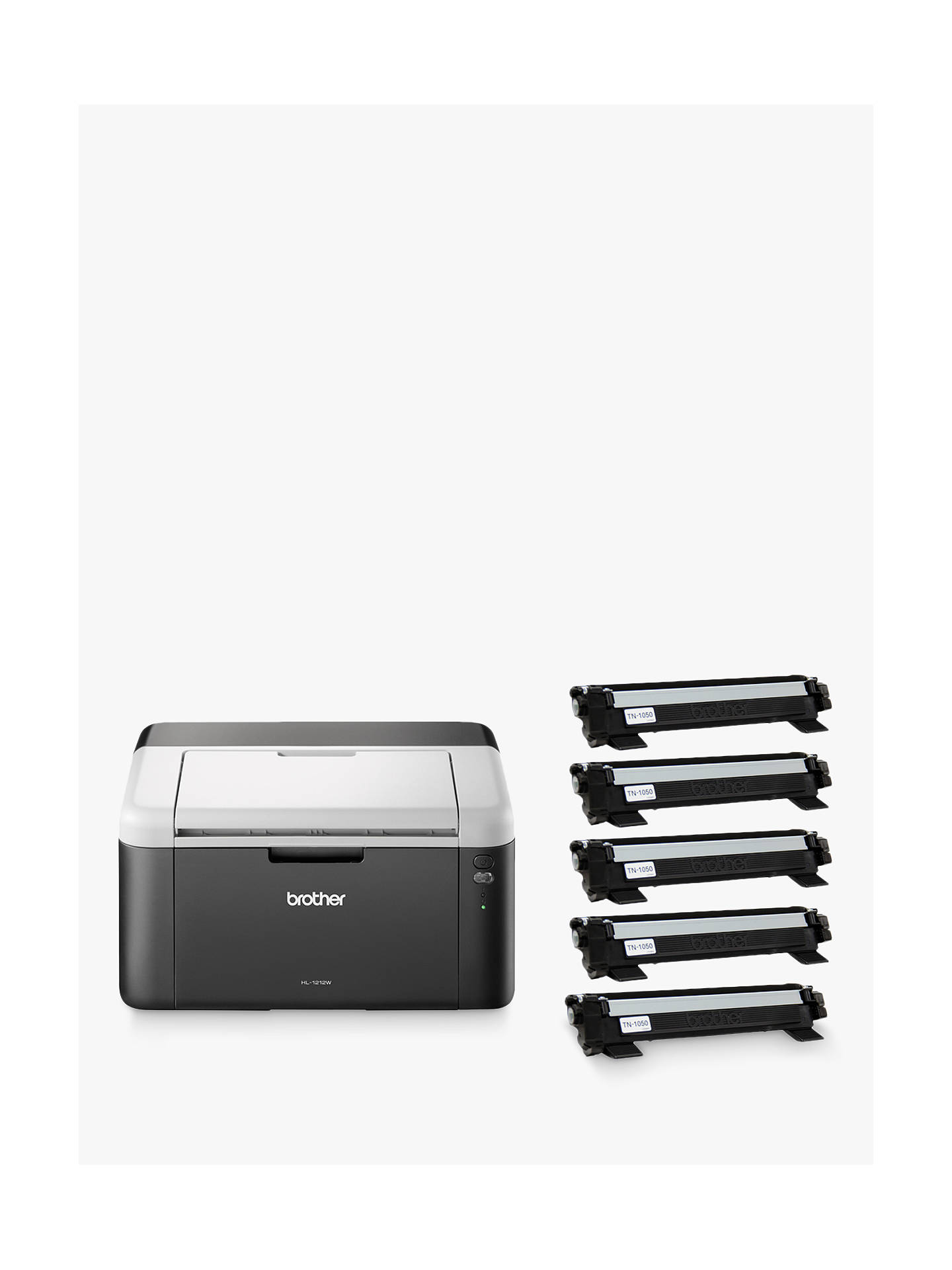 Buy Brother HL-1212W Wireless Mono Laser Printer with 5 Toners, Black Online at johnlewis.com