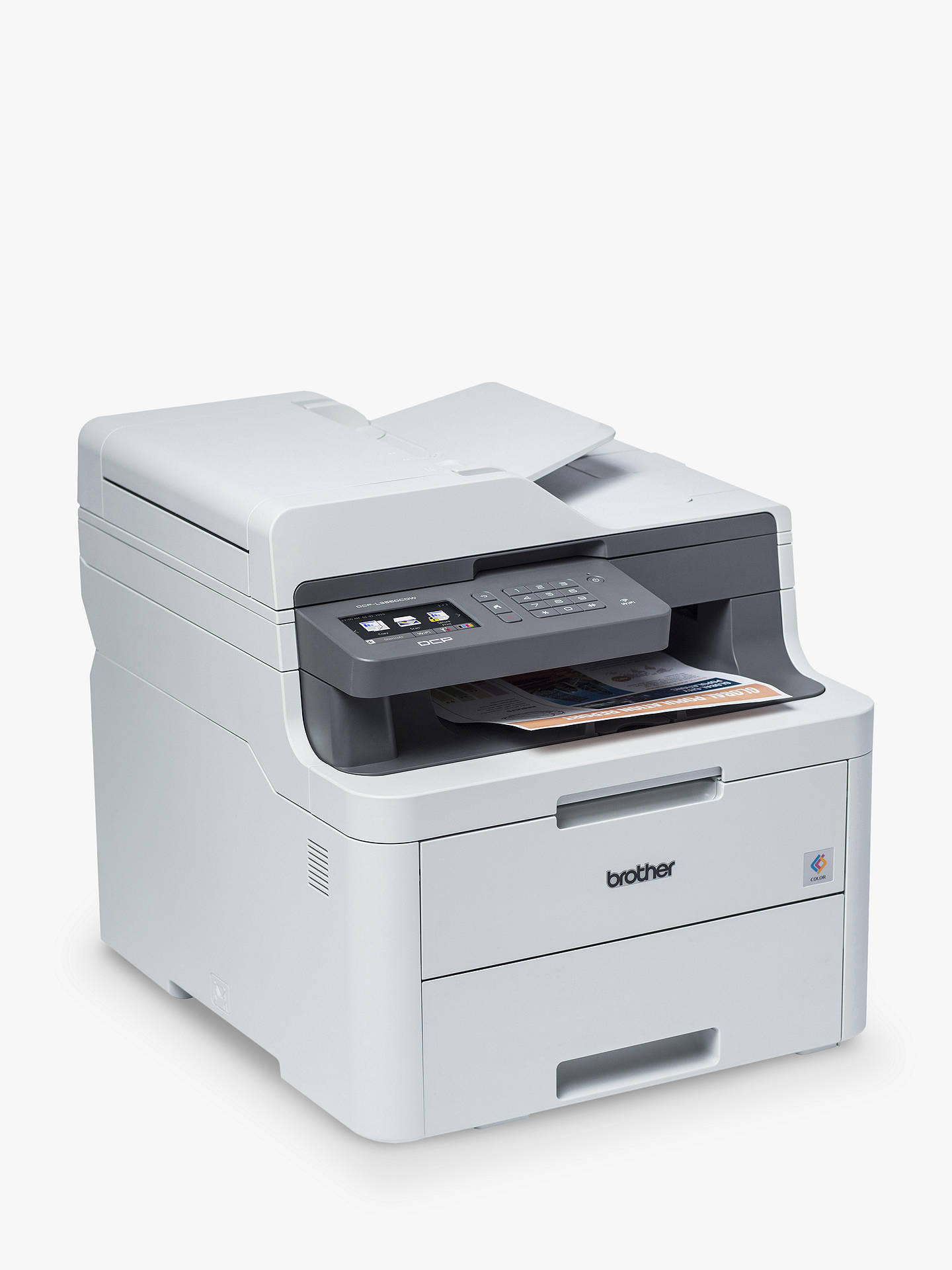 BuyBrother DCP-L3550CDW Wireless Three-in-One Colour Laser Printer, Grey Online at johnlewis.com