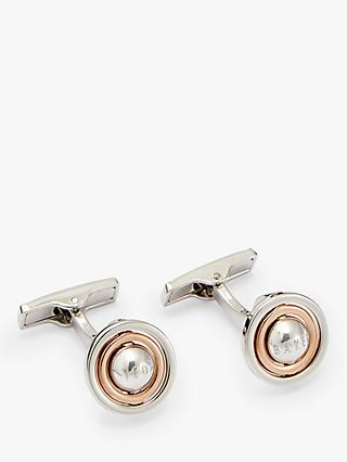 Ted Baker Cello Rotating Ball Cufflinks, Silver/Gold
