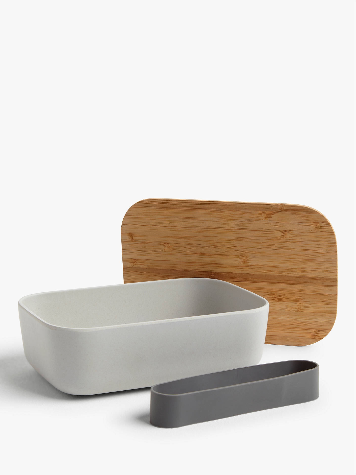 Buy House by John Lewis Bamboo Lunch Box, 800ml, Grey Online at johnlewis.com
