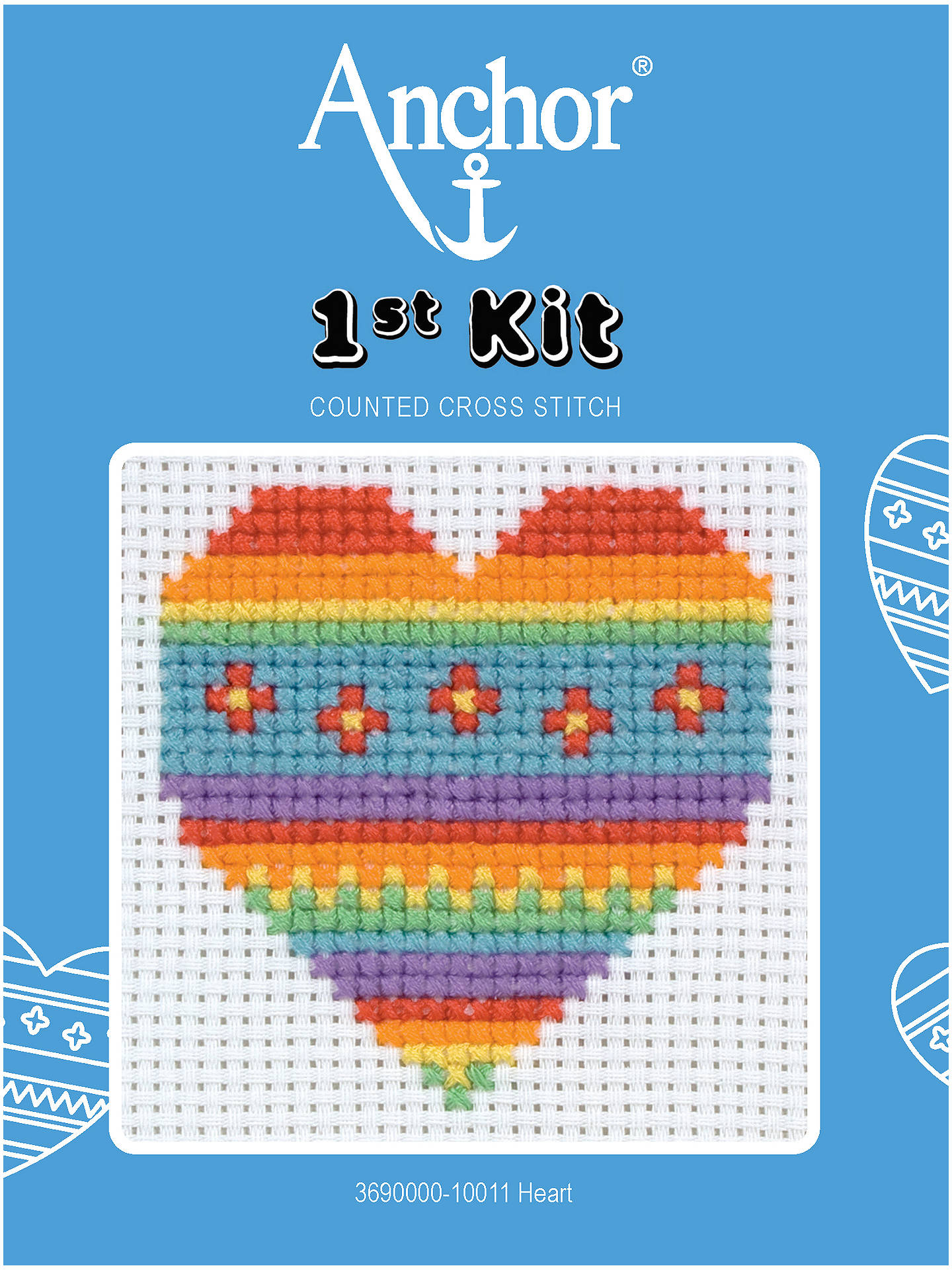 Beginners ~ First Anchor ~ Counted Cross Stitch Kit ~ Perfect for Children