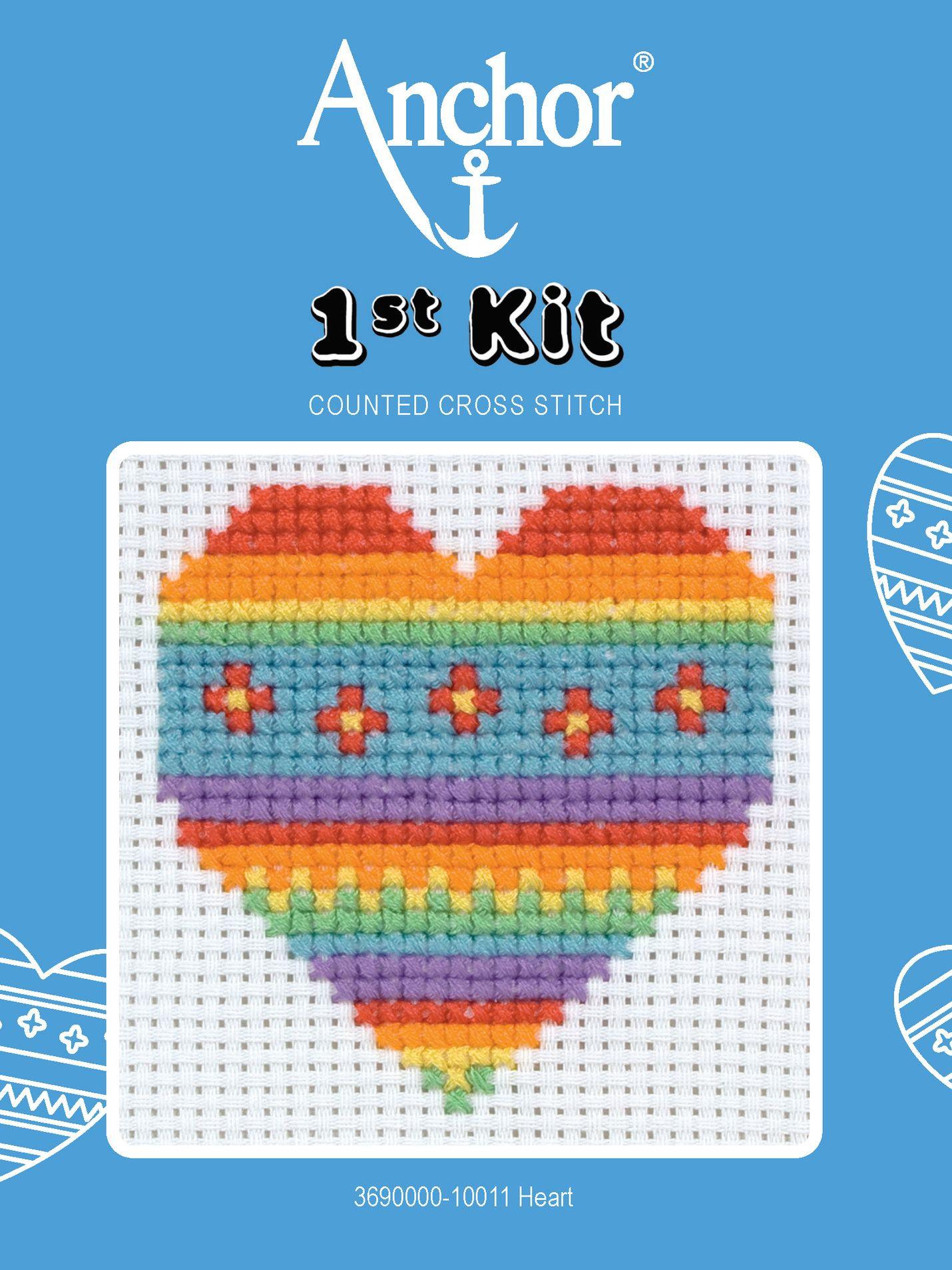 Anchor Anchor Heart Starter Cross Stitch Kit