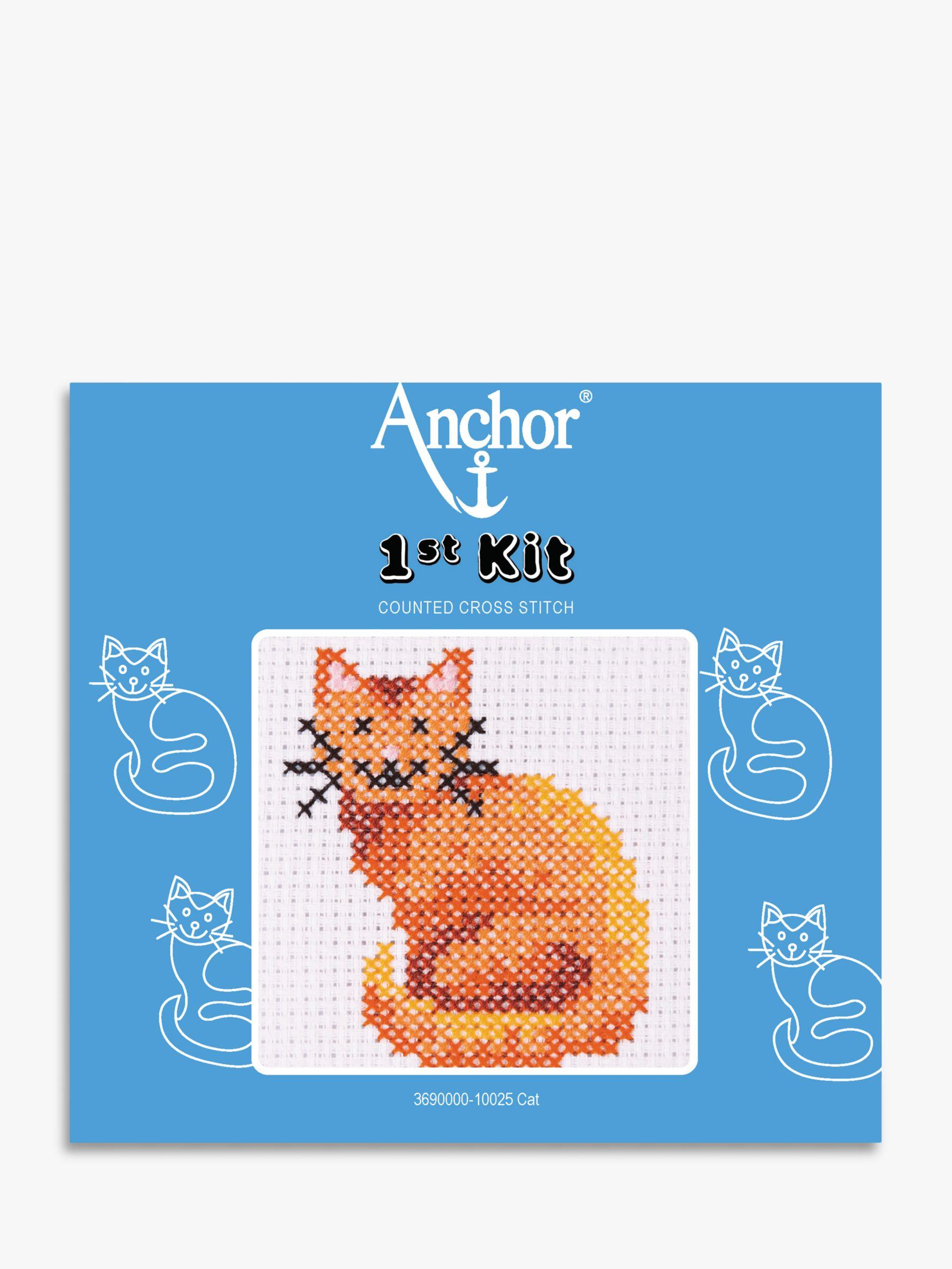Anchor Anchor Cat Starter Cross Stitch Kit