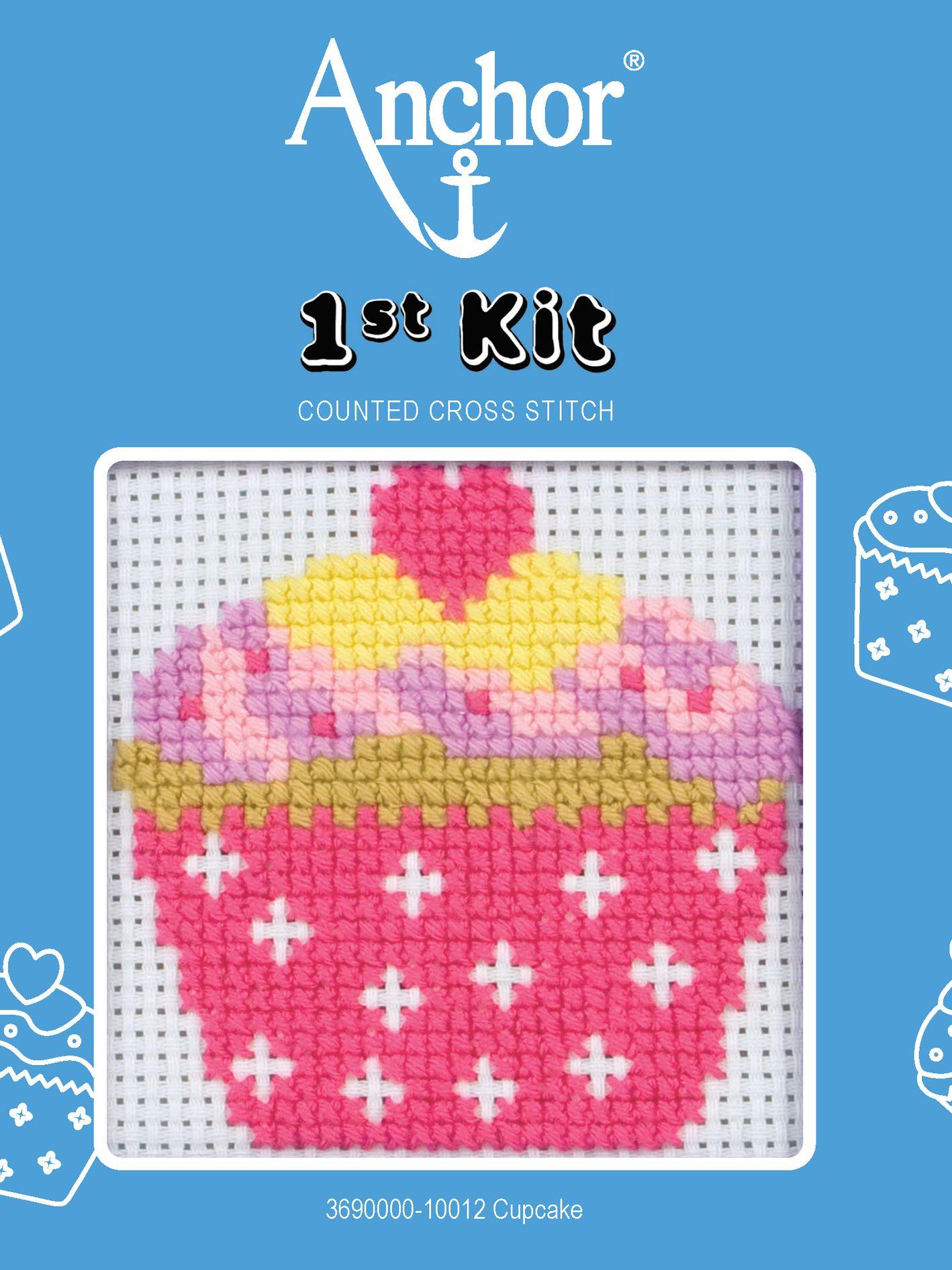 Anchor Anchor Cupcake Starter Cross Stitch Kit