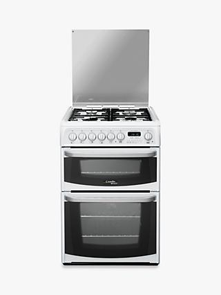 Hotpoint CH60DHWF 60cm Double Dual Fuel Cooker, B/B Energy Rating, White