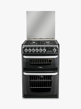 Hotpoint CH60DHKF 60cm Double Dual Fuel Cooker, A Energy Rating, Black